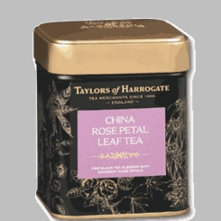 Taylors of Harrogate China Rose Petal Leaf Tea Tin - 125g