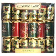 Christmas Eat, Drink and be Merry Crackers - 12 pack - 3 In Stock