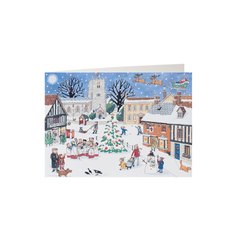 'Christmas in the Village' Advent Calendar Card - Sold Out