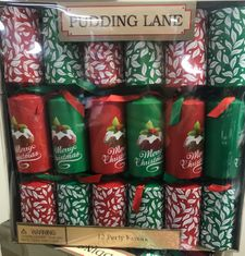 Christmas Pudding Christmas Crackers - 12 pack - Sold Out 2020