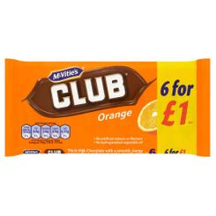 McVitie's Club Orange 6 pk - 132g - Sold Out