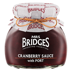Mrs. Bridges Cranberry Sauce with Port - 250g - 4 In Stock