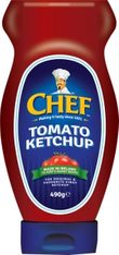 Chef Tomato Ketchup Squeezy - 490g