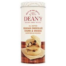Dean's Belgian Chocolate Chunk & Orange Shortbread Rogunds - 200g - Sold Out