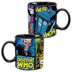 Doctor Who Comic Book Ceramic Mug - 20oz - 2 In stock