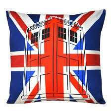 Doctor Who Union Jack Tardis Pillow - 2 In Stock