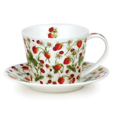 Dunoon Dovedale Strawberry Cup & Saucer - Islay - 4 in stock