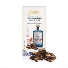 Butlers Drumshanbo Gunpowder Irish Gin Milk Chocolate Tablet Bar  - Sold Out