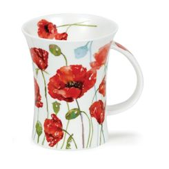 Dunoon Floral Breeze Poppy - Richmond - 2 in stock