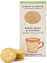Elegant & English Baked Apple & Custard Biscuits - 125g - Sold Out