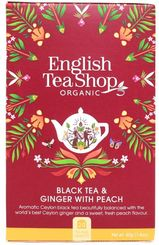 English Tea Shop Black Tea & Ginger with Peach - 20ct Bags - 2 In Stock
