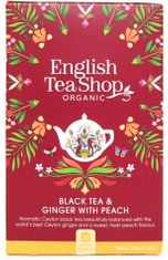 English Tea Shop Black Tea & Ginger with Peach - 20ct Bags - 1 In Stock