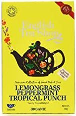English Tea Shop Organic Lemongrass, Peppermint Tropical Punch - 20ct Bags - sold out