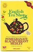 English Tea Shop Organic Pomegranate Blackcurrant Medley - 20ct Bags  - Sold Out