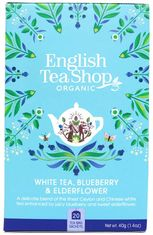 English Tea Shop Organic White Tea Blueberry & Elderflower - 20ct Bags - 2 In Stock