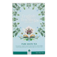 English Tea Shop Organic Pure White Tea - 20ct Bags - 2 In Stock