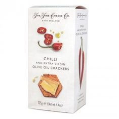 The Fine Cheese Co. Chilli & Extra Virgin  Olive Oil Crackers - 125g - 4 In Stock