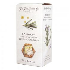 The Fine Cheese Co. Rosemary & Extra Virgin Olive Oil Crackers - 125g - 4 In Stock