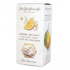 The Fine Cheese Co. Lemon, Sea Salt & Extra Virgin Olive Oil Crackers - 125g - Sold Out