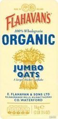 Flahavan's Organic Jumbo Oats - 1kg - 2 in stock - BB Aug 2020