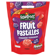 Rowntrees Fruit Pastilles Strawberry & Blackcurrant Sharing Bag - 150g  - BB August 2021
