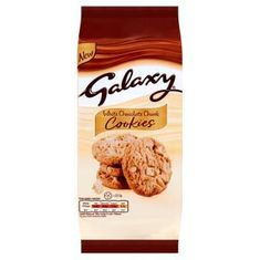 Galaxy White Chocolate Chunk Cookies Pouch - 180g - Sold Out