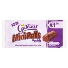 Gateaux Mini Rolls Chocolate - 222g