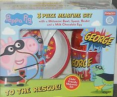 George Pig Easter Mealtime Gift Set - not available this year 2020