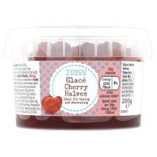 Tesco Glace Cherry Havles - 200g - Sold Out