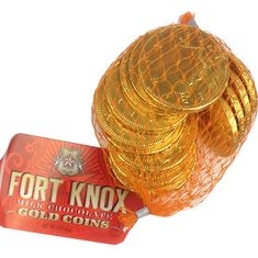 Fort Knox Milk Chocolate Gold Coins Mesh Bag - 6pc -8g - Sold Out