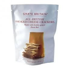 Grate Britain All British Smoked Cheese Crackers Pouch - 45g - Currently Not Available