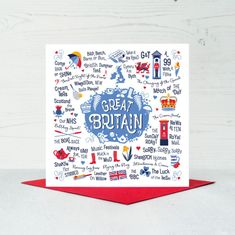 Great Britain Greeting Card - 6 In Stock