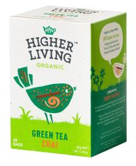 Higher Living Green Tea Chai - 20ct Bags