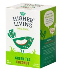 Higher Living Green Tea  Coconut -  20ct Bags