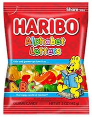 Haribo Alphabet Letters Treat Bag - 142g - BB November 2020
