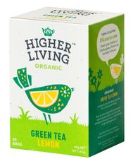 Higher Living Green Tea Lemon - 20ct Bags