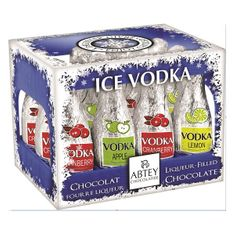 Abtey Ice Vodka Assorted Liqueur-Filled Bottles Crate - 12 pc  -Sold Out 2020