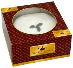 Gold Crown Boxed Iced Christmas Cake - 681g - Sold Out 2020