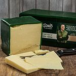 Irish Green Wax Mature Cheddar - 4 In Stock
