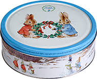 Jacobsens Peter Rabbit Danish Butter Biscuit Tin - Wreath - 400g - Sold Out 2020
