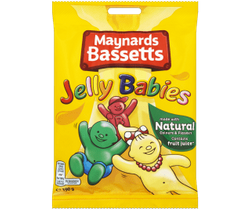 Maynards Bassetts Jelly Babies Bag - 165g