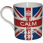 Keep Calm and Carry On Fine China Mug - Sold Out