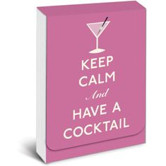 Keep Calm and Have a Cocktail Purse Notes -  Sold Out