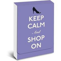 Keep Calm and Shop on Purse Notes