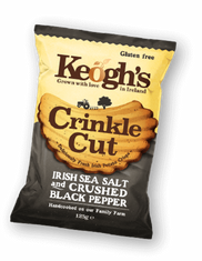 Keogh's Crinkle Cut Irish Sea Salt & Crushed Black Pepper - 50g