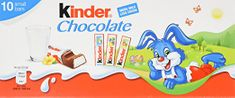 Kinder Chocolate 10 small bars - 125g - not available this year