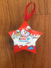 Kinder Hanging Star Tree Decoration - 42g - Not Available 2019