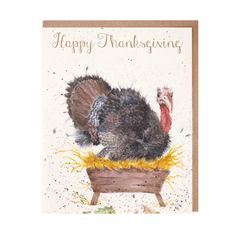 """""""Happy Thanksgiving"""" Card"""