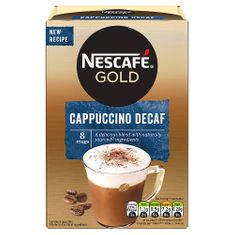 Nescafe Cappuccino Decaf - 8 packets