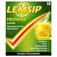 Lemsip Cold & Flu Lemon - 5 sachets - 24g - Not Available
